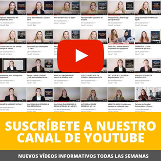 Canal Youtube Abogado Extranjeria Madrid