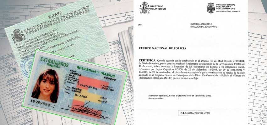 NIE Certificados españa