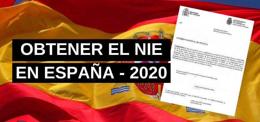 OBTENER EL NIE EN ESPAÑA