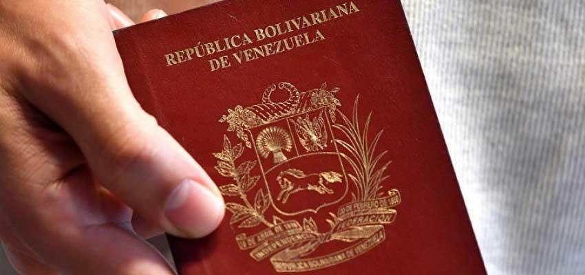 venezolano pasaporte caducado